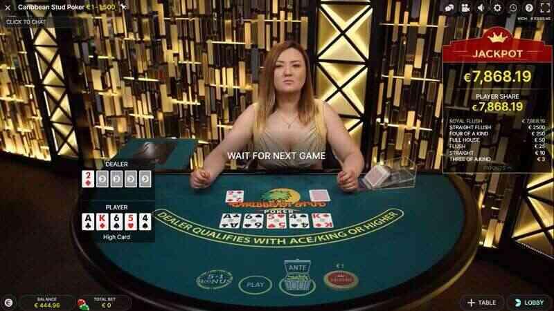 กติกา Poker เล่นยังไงในห้องเดิมพันแคริบเบียนสตัดโป๊กเกอร์